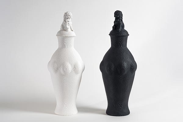 'Li-ion' Vessels. Bone China & Black Porcelain